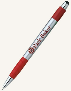 Silver Element Stylus with Screen Cleaner Pen
