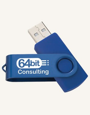 Two Tone Folding USB 2.0 Flash Drive 4GB