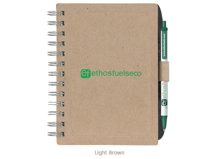 BIC Ecolutions Chipboard Cover Notebook with Recycled Fibre - Deboss / Foil